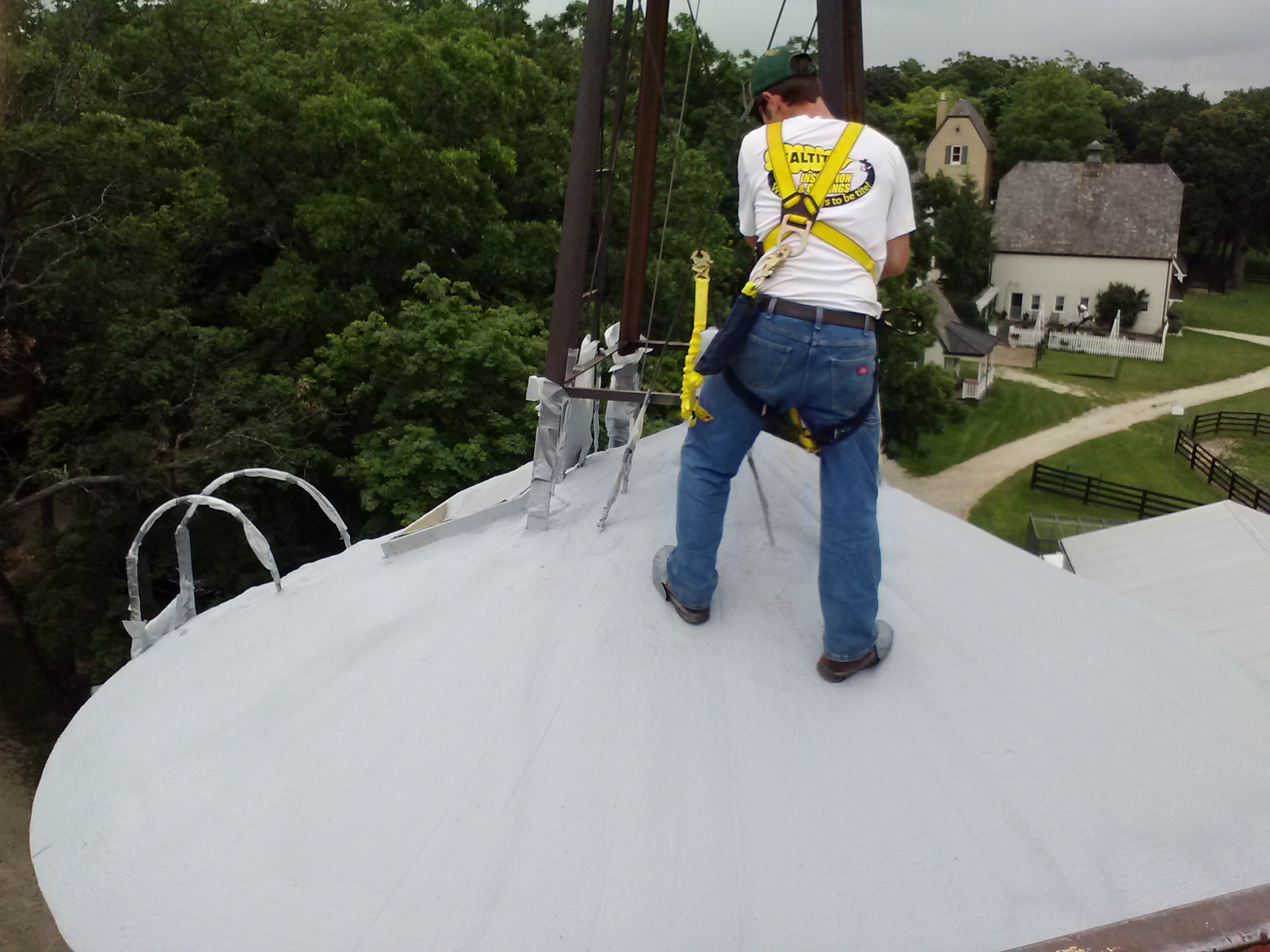 RJ's spraying roof top