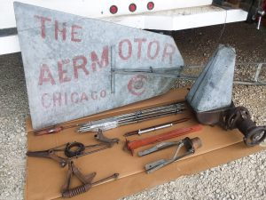 Vintage 8′ Aermotor A702 Windmill Head & 21' Tower