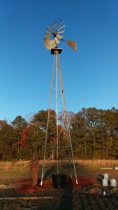 reference windmill photo is 8' head on 33' tower