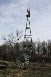 Installing Tower and Windmill from the Ground Up 10