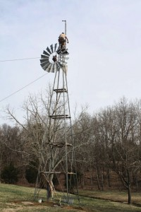 Installing Tower and Windmill from the Ground Up 16