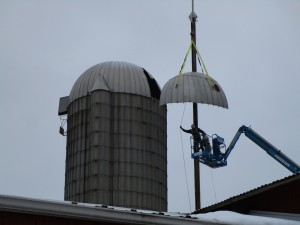 Lifting Grain Cover Into Place (1)