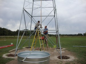 Setting 60' tower