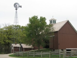 Tall Tower with Barn